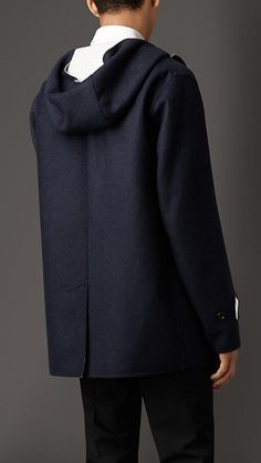 Burberry London Navy Double Cashmere Coat - An unlined coat in soft double cashmere with a contrast colour interior. Button-tab cuffs and a throat latch reference heritage outerwear. Discover the men's outerwear collection at Burberry.com