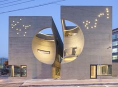 Crescent-shaped cutouts give Moon Hoon's Two Moon building its playful edge | Inhabitat - Sustainable Design Innovation, Eco Architecture, Green Building