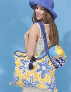Yarnspirations.com - Lily Starfish Beach Bag - Patterns  | Yarnspirations