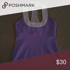 Lululemon Tank Lilac workout tank with built in bra, super comfortable Luon..very form flattering. lululemon athletica Tops Tank Tops