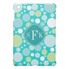 Polka Dot Crazy Pattern Monogram iPad Mini Covers