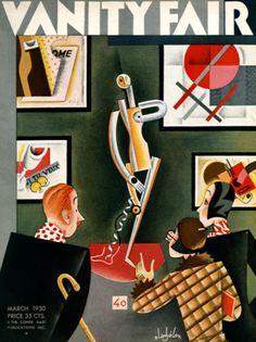 Vintage Vanity Fair cover postcards