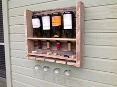 Free Shipping  Simplistic  reclaimed wood wine by DelHutsonDesigns, $68.00