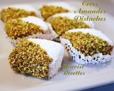 www. French Macaroon Recipes, Tunisian Food, Middle Eastern Desserts, Algerian Recipes, Algerian Food, Healthy Bars, Traditional Cakes, Exotic Food, French Pastries