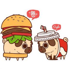 Fun Illustrations Featuring An Adorable Little Pug Dressed As Tasty Treats - DesignTAXI.com