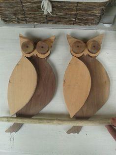 ★Simpatici gufi in legno fatti a mano★