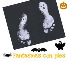 DIY Halloween -- Estampando fantasmas con los pies