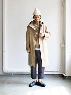 AURALEE FINX DOUBLE CLOTH HOODED COAT