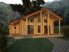 Houtstapelbouw Woning Piatra Arsa | Houten huis bouwen #houtstapelbouw #houtenhuizen #housesforsale #huistekoop #houten #huizen #houses