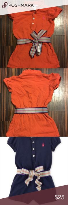 Ralph Lauren Orange Romper size 18 months Ralph Lauren Orange Romper size 18 months and was only worn once literally for only 2 hours to a doctor appt. and is in perfect brand new condition and originally paid $45 Ralph Lauren One Pieces