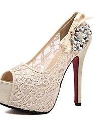 zapatos de las mujeres peep toe bombas de tacón de aguja con zapatos de diamante de imitación más colores disponibles