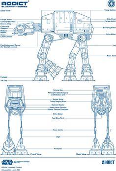 Addict-X-Star-Wars-AT-AT-Blueprint.jpg (imagem JPEG, 590 × 868 pixels)