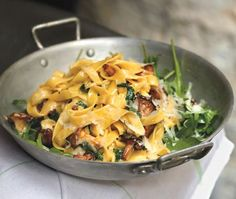 Fresh Tagliatelle With Chanterelles And Lemon Zest Recipe - from Frenchie Chef Gregory Marchand