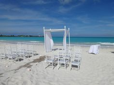 Ceremony set-up on the gorgeous beach