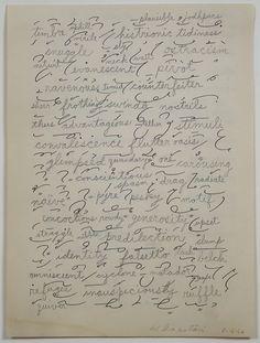 William Anastasi, Word Drawing Over Short Hand Practice Page, 1962