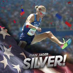 Evan Jager wins silver in men's steeplechase! It's the highest U.S. finish in the event since 1952.