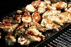 Grilled rosemary, garlic and lemon chicken wings