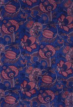 "Thomas Wardle, ""Germaine"" upholstery fabric, 1890. Velveteen. Leek, England."