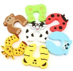 EasyLifeCare® 7 PCS Children Safety Finger Pinch Cartoon Animal Foam Door Stopper Cushion - Bundled Carton Monster Baby Child Kid Animal Cushiony Finger Hand Safety Door Stop Guard Set EasyLifeCare http://www.amazon.com/dp/B00ID84X1S/ref=cm_sw_r_pi_dp_RMXcub0PT3ZYY