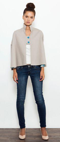Gray Cape , Kimono Jacket , Cape Coat , Autumn Top , Fall Jacket , Cotton Cape by PigPigCowDesigns on Etsy https://www.etsy.com/listing/160292648/gray-cape-kimono-jacket-cape-coat-autumn
