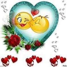 Funny Emoji Faces, Emoticon Faces, Funny Emoticons, Kiss Emoji, Smiley Emoji, Heart Emoji, Romantic Quotes For Wife, Love My Wife Quotes, Good Morning Smiley