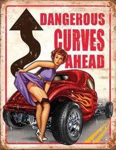 sleutelrekje dangerous curves ahead