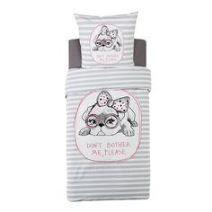 Parure de couette en coton pour lit 1 place - Poupi - Parures de couette enfants-Linge de lit enfant-Univers des enfants-Par pièce - Décoration intérieur - Alinea