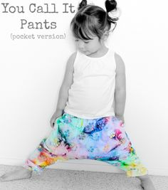 Kinder Haremshose nähen, You call it pant 18M-4T I suburbia soup: Free Patterns