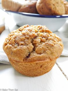 Skinny Sugar Free Fruity Muffins. Naturally sweetened with a mix of fresh and dried fruits | BakeThenEat.com
