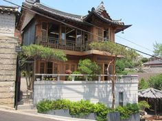cafe in Buckchon Hanok village