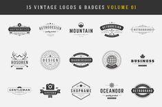 Check out 15 Retro Vintage Logotypes, Badges by Vasya Kobelev on Creative Market