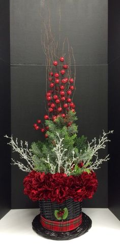 Christmas Topiary, Christmas Flowers, Christmas Hat, Christmas Lights, Christmas Holidays, Christmas Crafts, Dyi Decorations, Christmas Table Decorations, Different Christmas Trees