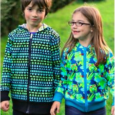Image of Reversible Zippy Hoodie sewing pattern *now with all sizes 18m to 8y*