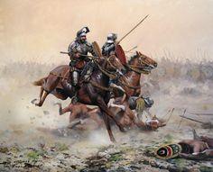 La Pintura y la Guerra. Conquistador, Medieval Knight, Medieval Fantasy, Military Art, Military History, Renaissance, Les Runes, Château Fort, Historical Art