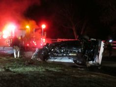 Jamie Foxx was a real-life hero on Monday night. He pulled a driver from this overturned car while it was burning.