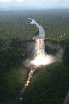 Kaieteur Falls is a great waterfall located in northern South America, in the central part of Guyana, on the river Potaro. It is located in the Kaieteur National Park in Potaro-Siparuni region, which is claimed by Venezuela as part of the Guyana Essequibo.