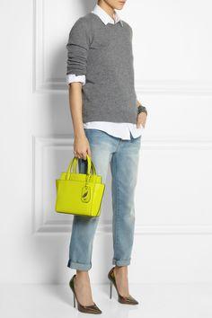 Diane von Furstenberg|On The Go mini leather tote|NET-A-PORTER.COM