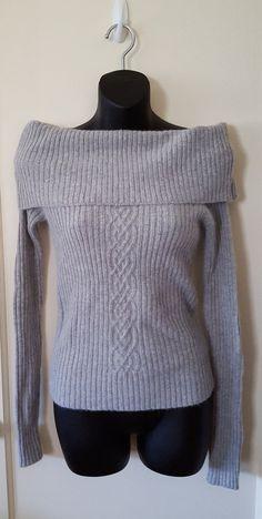 New Women's Soft Gray Long Sleeve Stretchy Slash Neck Sweater, Size XS, Majora #Majora #BoatNeck #alohamilena #sweater #gray #ebay #sale #sexy #fashion #womanfashion #winter