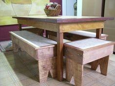 móveis de madeira reciclada
