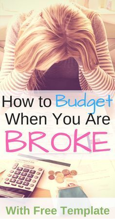 Are you living paycheck to paycheck and think you cant budget? You are wrong! Here is a step by step guide to budget if you are broke PLUS a FREE Budget Template! Ways To Save Money, Money Tips, Money Saving Tips, How To Make Money, Managing Money, Living On A Budget, Frugal Living Tips, Frugal Tips, Budgeting Finances