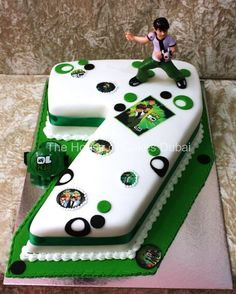This cake serves Please specify what is the shape you would like to order in the section 'Your comments' at the end of the order. Ben 10 Birthday, Kids Birthday Themes, 10th Birthday Parties, Birthday Decorations, Ben 10 Party, Ben 10 Cake, 7 Cake, Food Themes, Birthday Candles