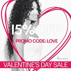 We want all your clients looking good for Valentine's Day. Get 15% OFF your entire order when you use promo code: LOVE #vdayhair #bemyvalentine #vday #mayvennhair