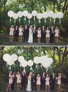 wedding photo ideas with balloons