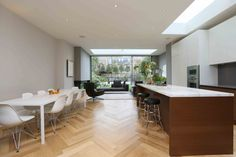 side and rear extension in Fulham parquet floors are back!