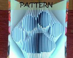 Book folding Pattern: PAWPRINTS design by TheFoldedBookCompany