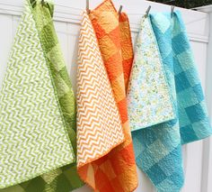 love the colors! ombre baby quilts for vanessa christenson by amy smart, via Flickr