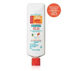 Skin So Soft Bug Guard Plus Gentle Breeze® SPF 30 Lotion by AVONShop AVON's Skin So Soft Bug Guard Plus Gentle Breeze™ SPF A sunscreen lotion that repels mosquitoes, with nourishing Vitamin E and Aloe. Avon Skin So Soft, Mosquitos, Avon Brochure, Top 5, Insect Repellent, Active Ingredient, Vitamin E, Bath And Body