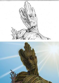 WIP Groot-Guardians of the Galaxy Photoshop