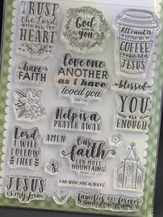 """Trust In The Lord Photopolymer Stamps by Echo Park - 4""""x6"""" - Faith Stamps/Cardmaking Stamps/Jesus/God/Church Icon  #Cardmakingstamps #churchstamps #cutieline #echoparkstamps #faithstamps #havefaithstamp #hobbylobbystamps #plannerstamps #trustinthelord:separator:"""