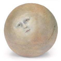 Sergio Bustamante 'Moon Sculpture' - Plaster, face hand-decorated, textured surface, signed, dated and numbered Magic In The Moonlight, Head Planters, Moon Illustration, Moon Face, Light Works, Cool Paintings, Light Art, Art Market, Artist Art